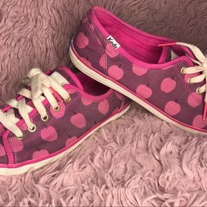Kate Spade x Keds Pink & Purple Apple Print